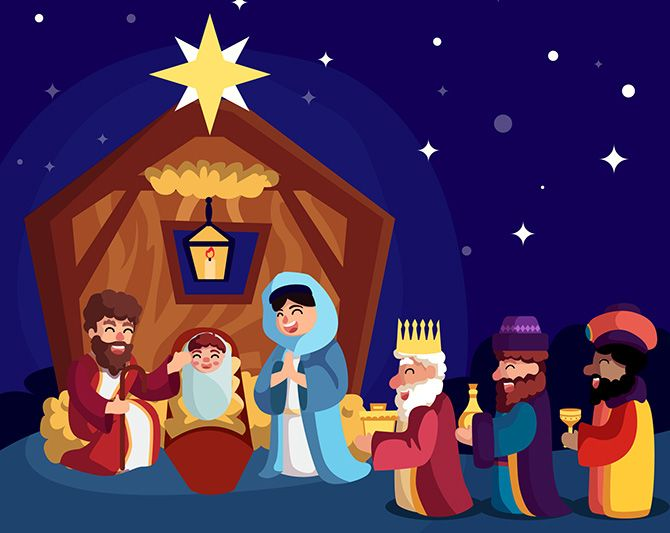 Jesus Birth Three Wise Men Came With Gifts Magi Kings